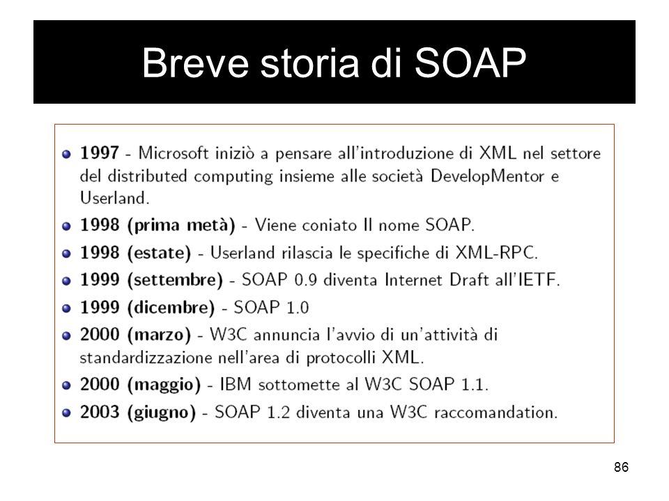 Breve storia di SOAP