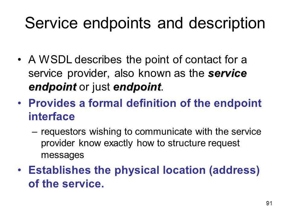 Service endpoints and description