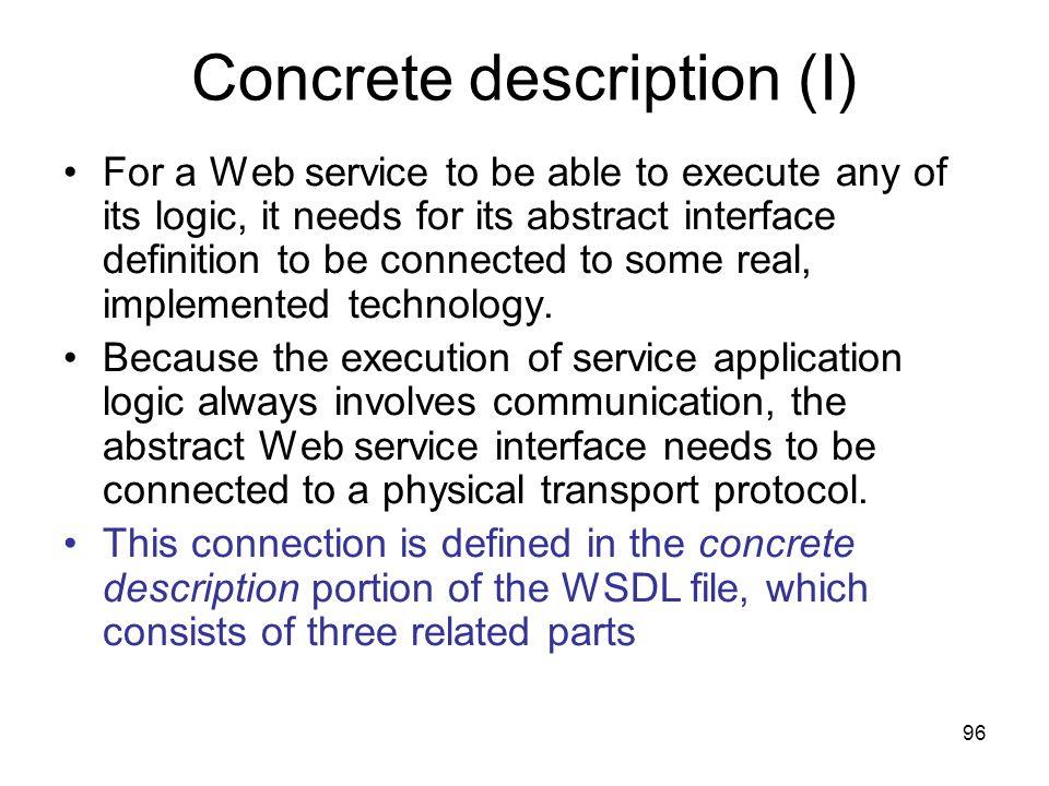 Concrete description (I)