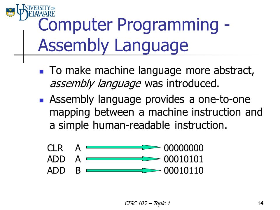 Computer Programming - Assembly Language