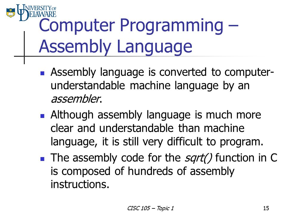 Computer Programming – Assembly Language