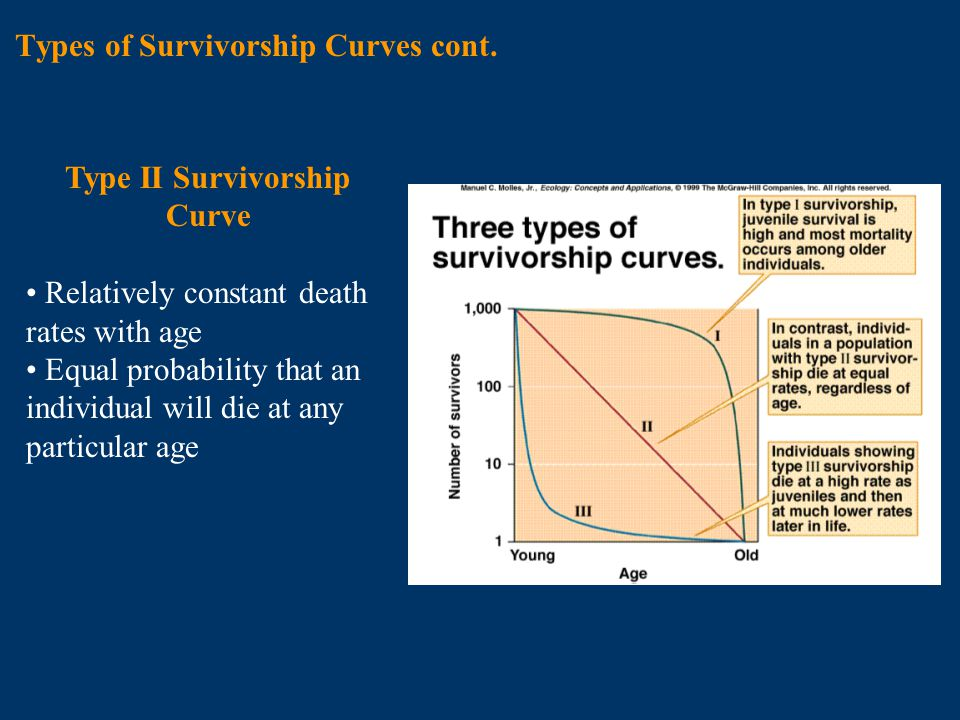 Chapter 10 population dynamics ppt video online download types of survivorship curves cont ccuart Image collections