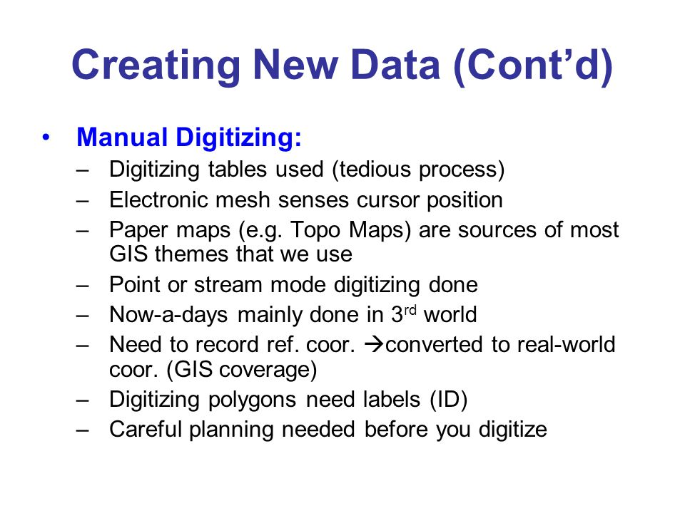 Digitizing there are three primary methods for digitizing spatial 6 creating sciox Image collections