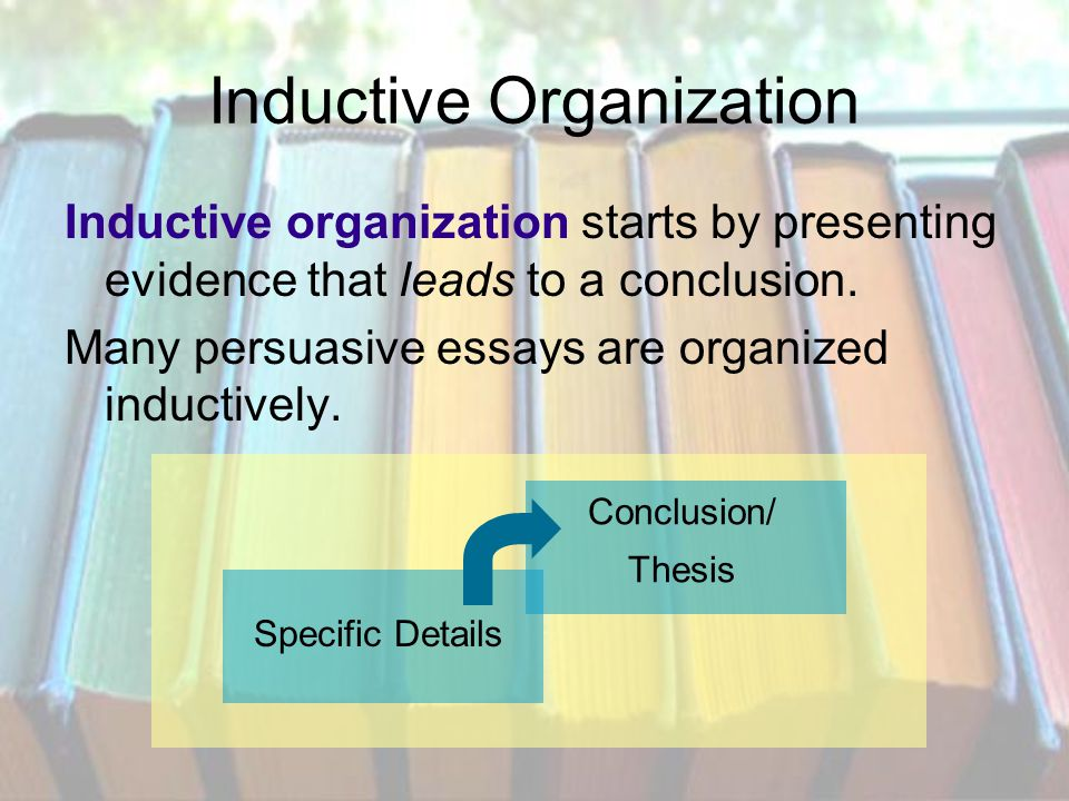 how authors structure their writing ppt video online  inductive organization