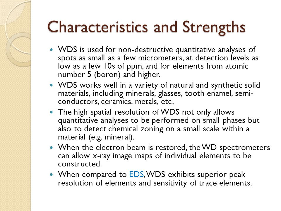 Characteristics and Strengths