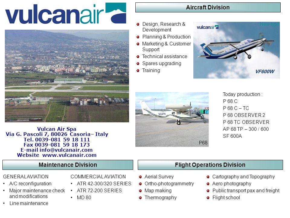 Aircraft Division Maintenance Division Flight Operations Division