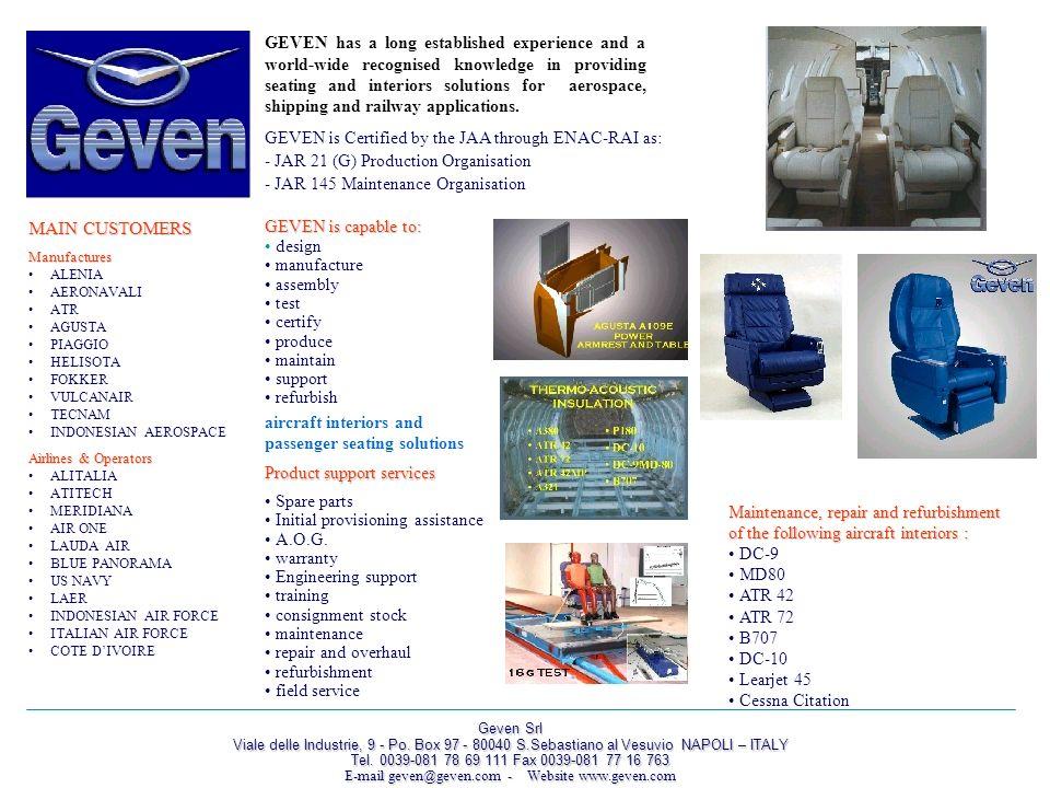 E-mail geven@geven.com - Website www.geven.com