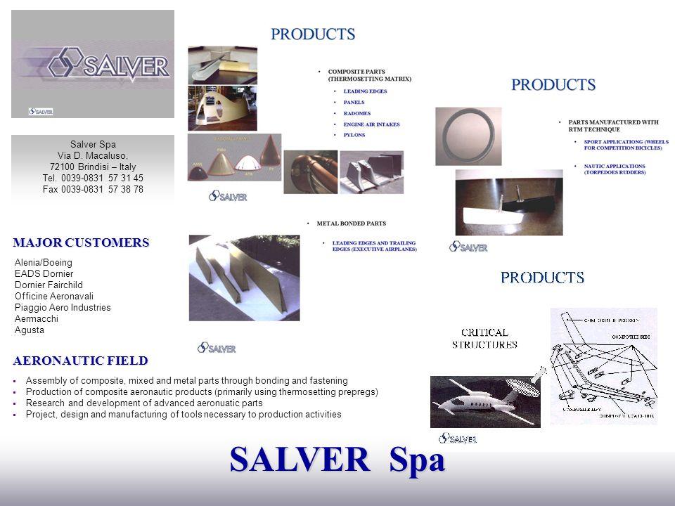 SALVER Spa MAJOR CUSTOMERS AERONAUTIC FIELD Salver Spa