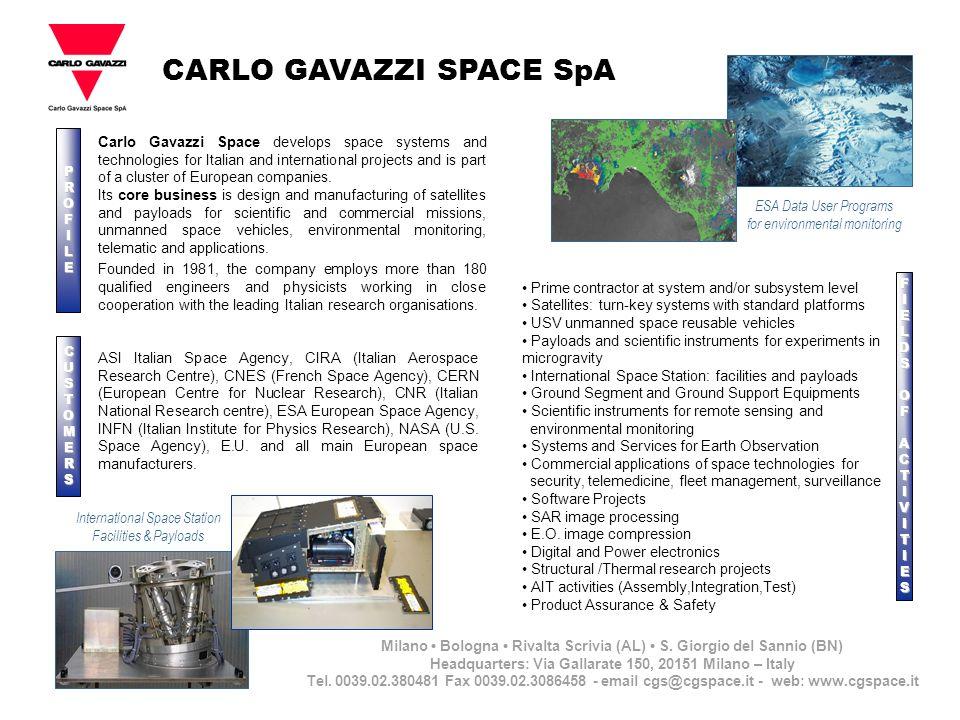 CARLO GAVAZZI SPACE SpA