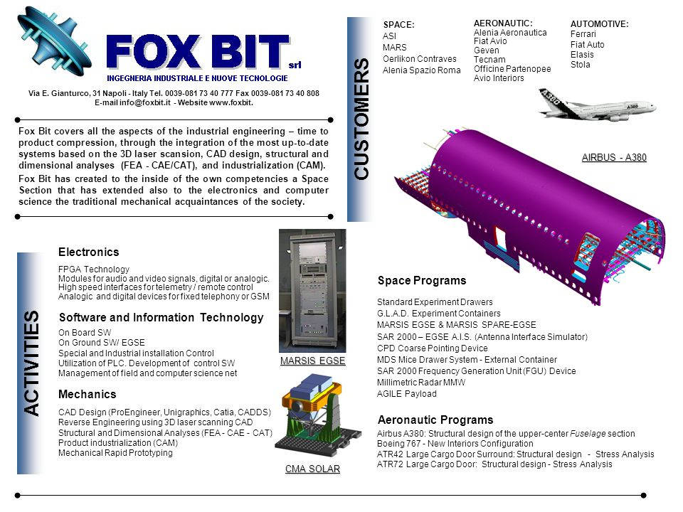 E-mail info@foxbit.it - Website www.foxbit.