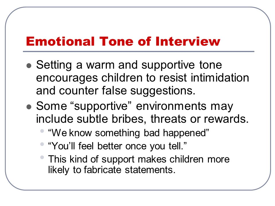 Emotional Tone of Interview