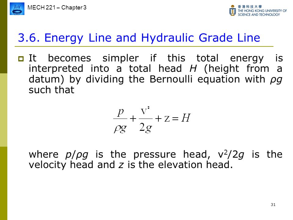 3.6. Energy Line and Hydraulic Grade Line