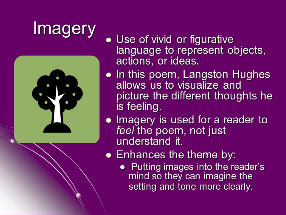 use of imagery and figurative language Imagery or figurative language is a writing technique that uses words to capture  and clarify concepts for the reader devices of imagery include.