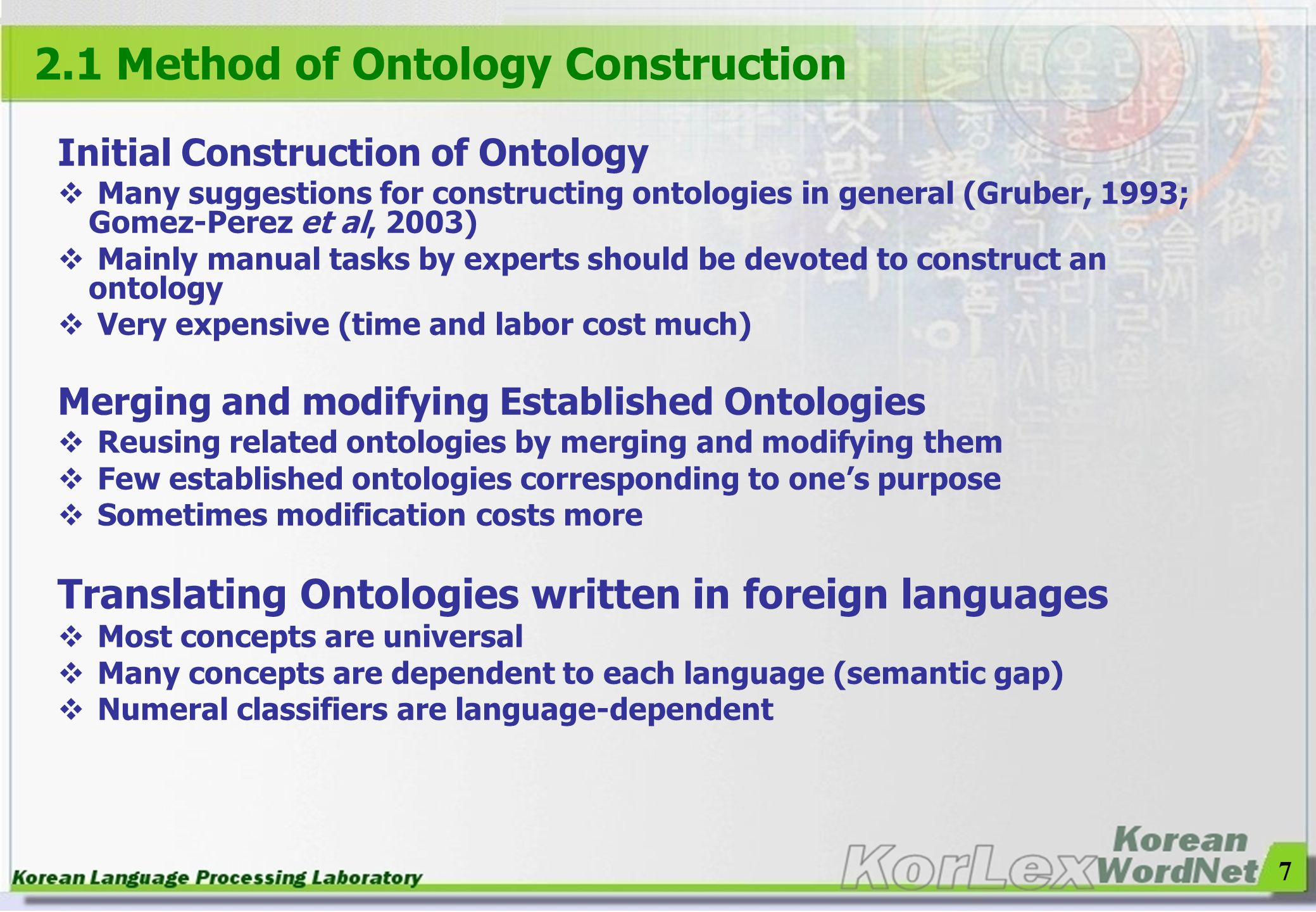 2.1 Method of Ontology Construction