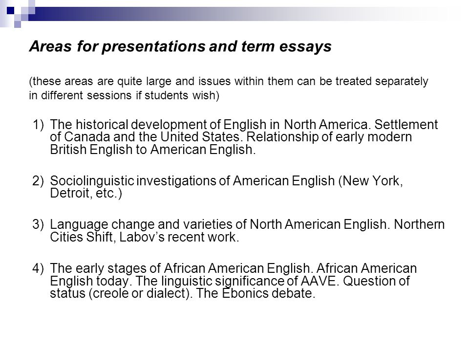 English in the United States and Canada - ppt download