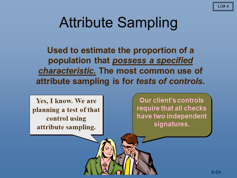 LO# 4 Attribute Sampling.