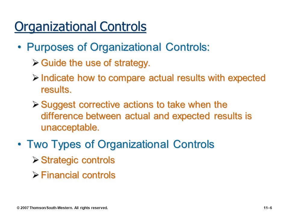organizational controls Obtaining an understanding of the controls at the service organization that are relevant to the entity's internal control and the controls at the user organization over the activities of the service organization, and.