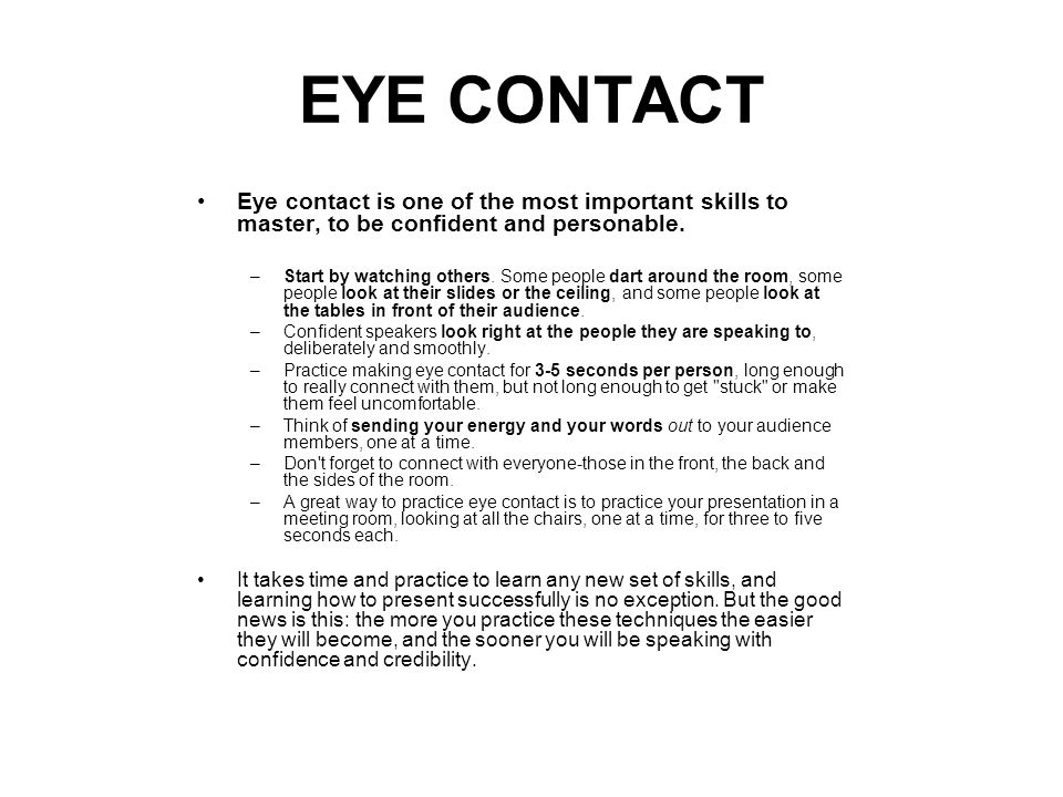 10 Reasons Eye Contact Is Everything in Public Speaking ...