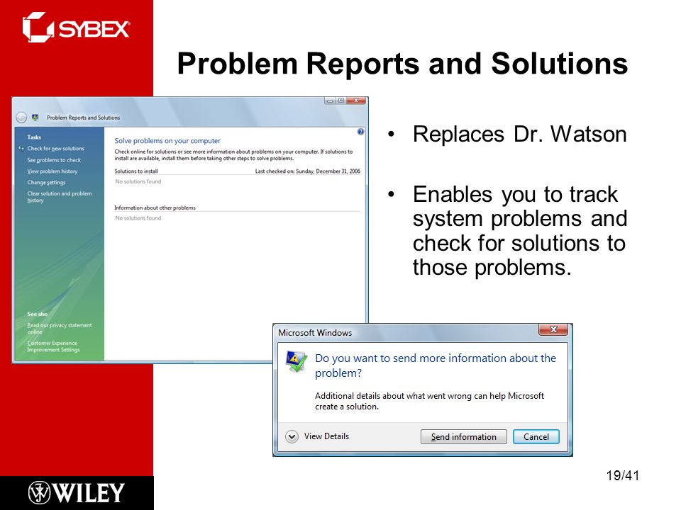 Problem Reports and Solutions