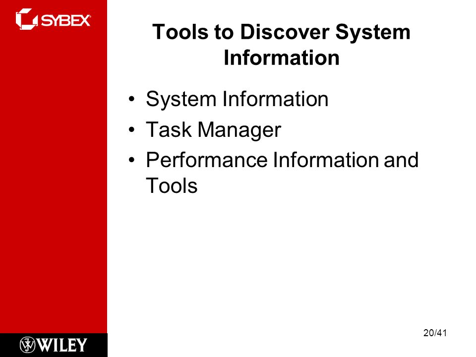 Tools to Discover System Information