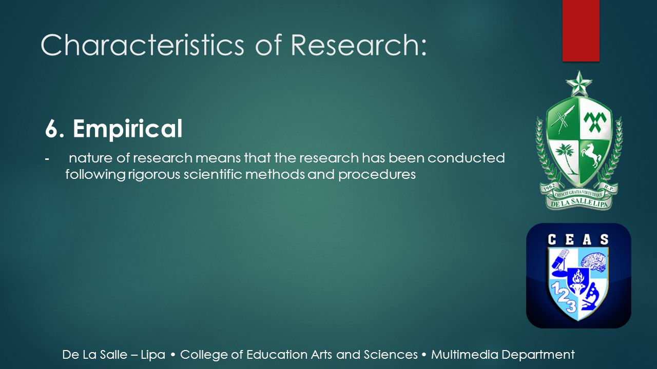 characteristics of scientific research pdf