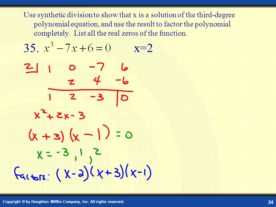 how to factor a third degree polynomial