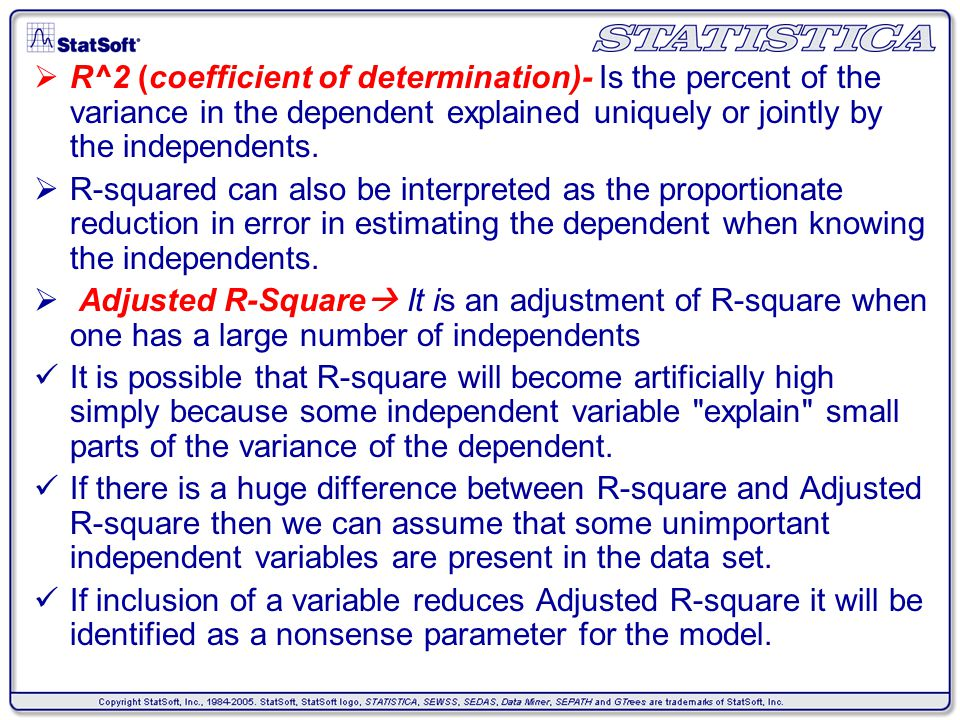 how to find value of the coefficient of determination