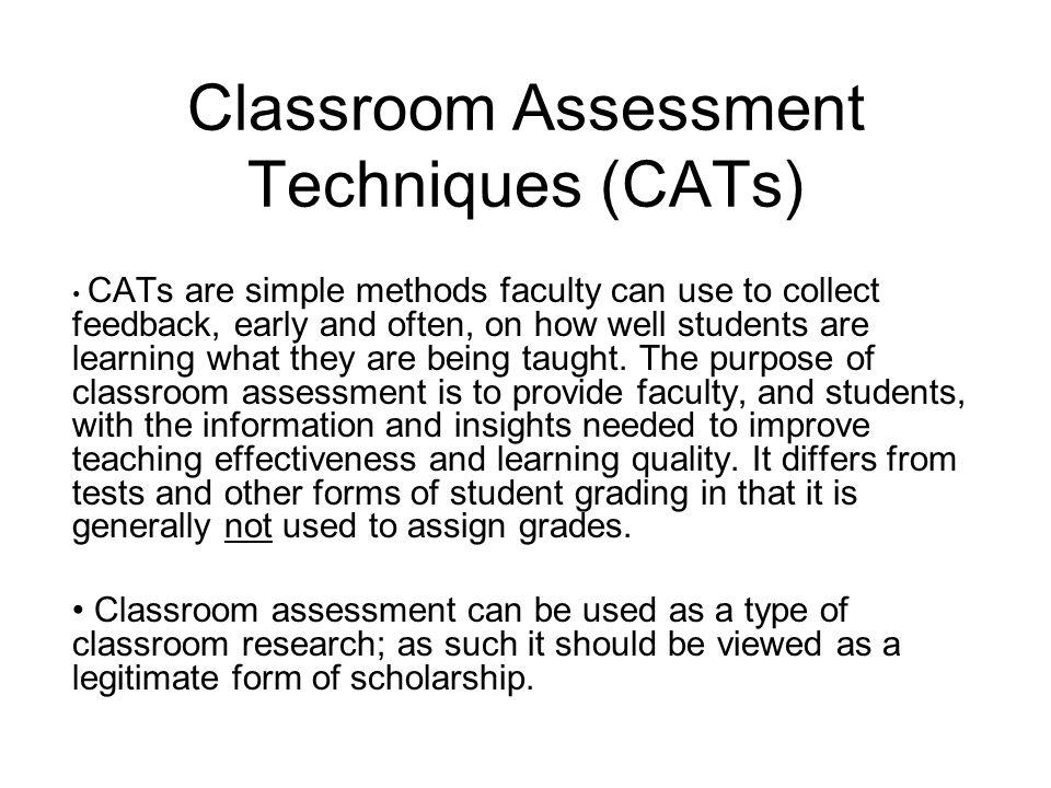 Innovative Classroom Assessment Techniques ~ Classroom assessment techniques ppt download