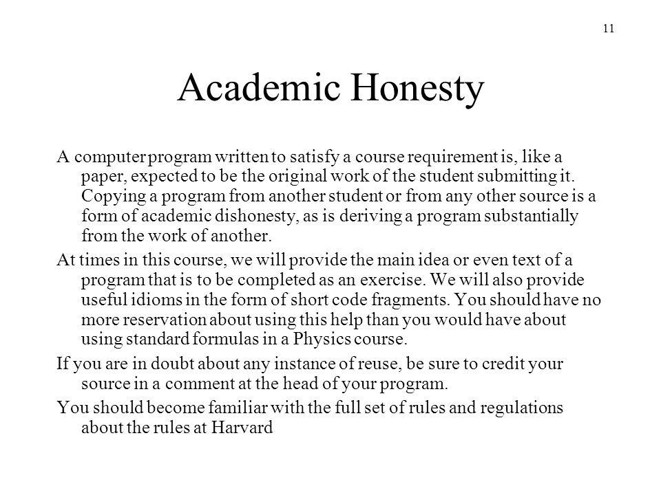 Academic Honesty