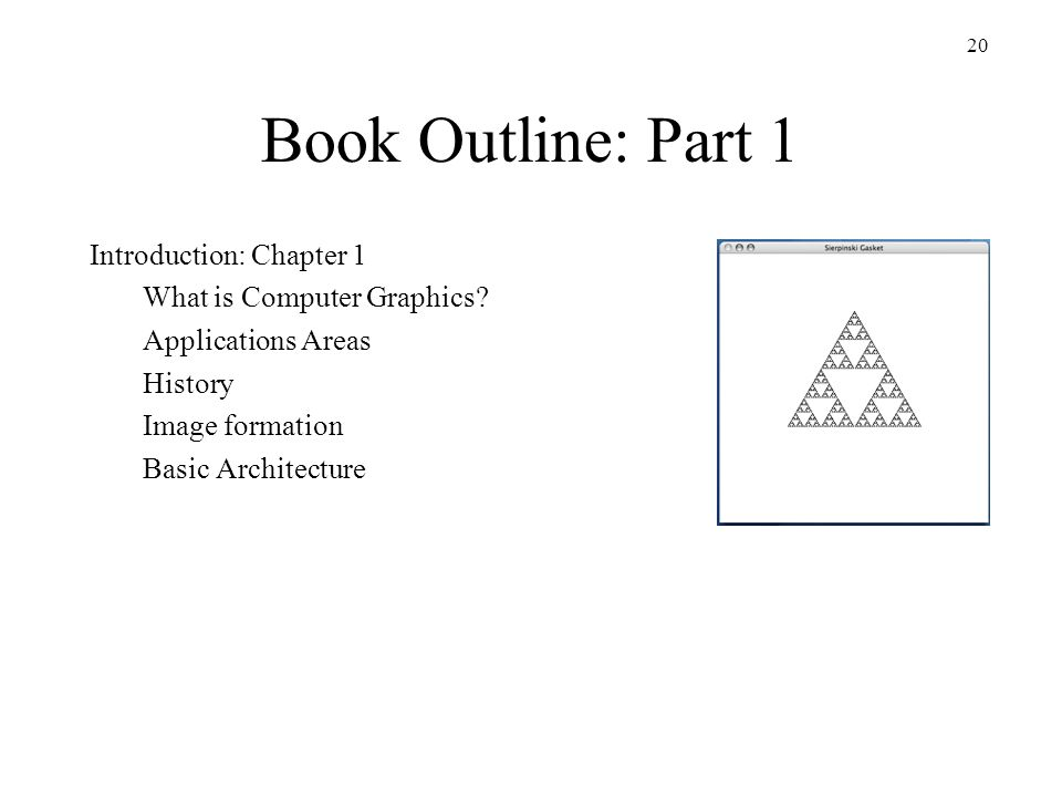 Book Outline: Part 1 Introduction: Chapter 1