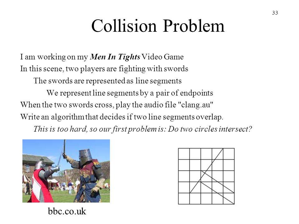 Collision Problem bbc.co.uk