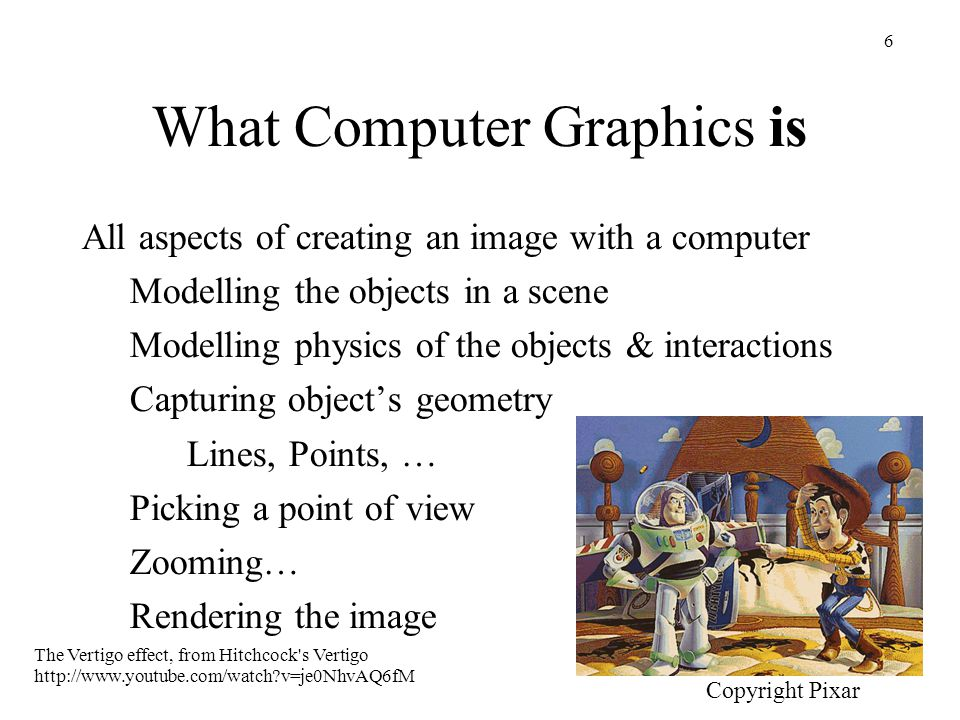 What Computer Graphics is