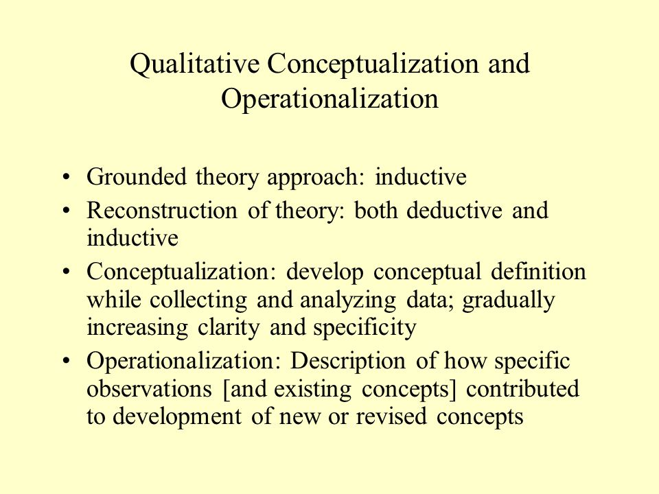 Qualitative Conceptualization and Operationalization