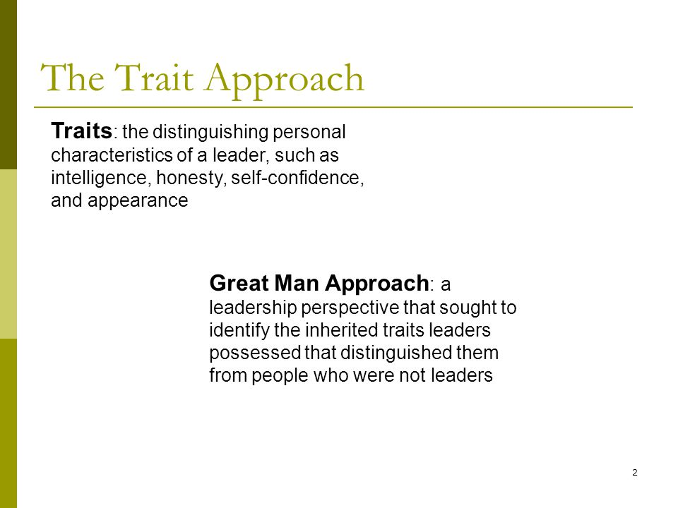 the traits that distinguish us