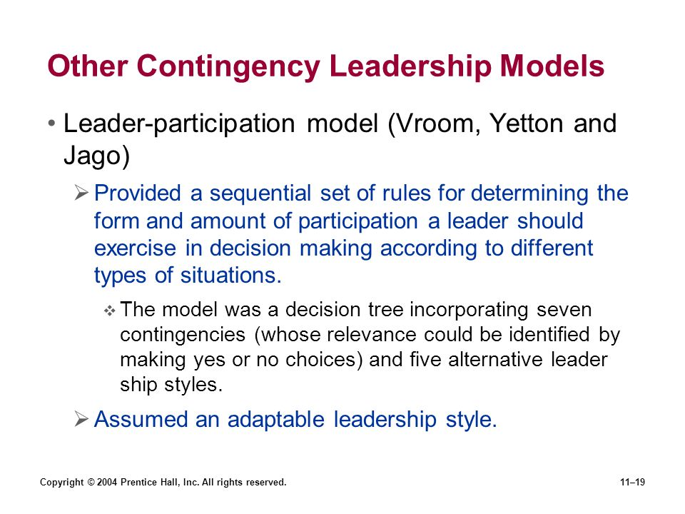 vroom jago contingency model How can the answer be improved.