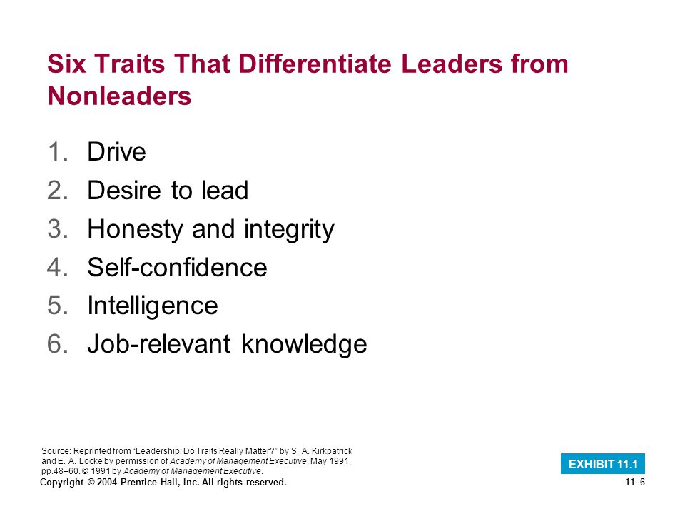 6 leadership traits differentiate leaders non leaders Behaving intelligently: leadership traits can you think of other great leaders what makes a great leader individual differences framework (idf) leadership.