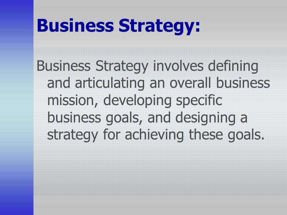 Business Strategy: