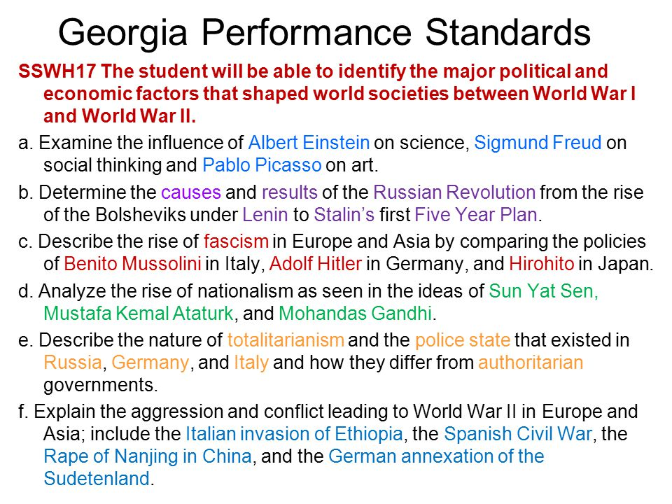 georgia performance standards ppt download