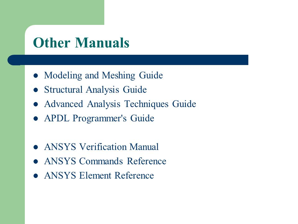 Ansys Advanced Analysis Techniques Guide - School Work