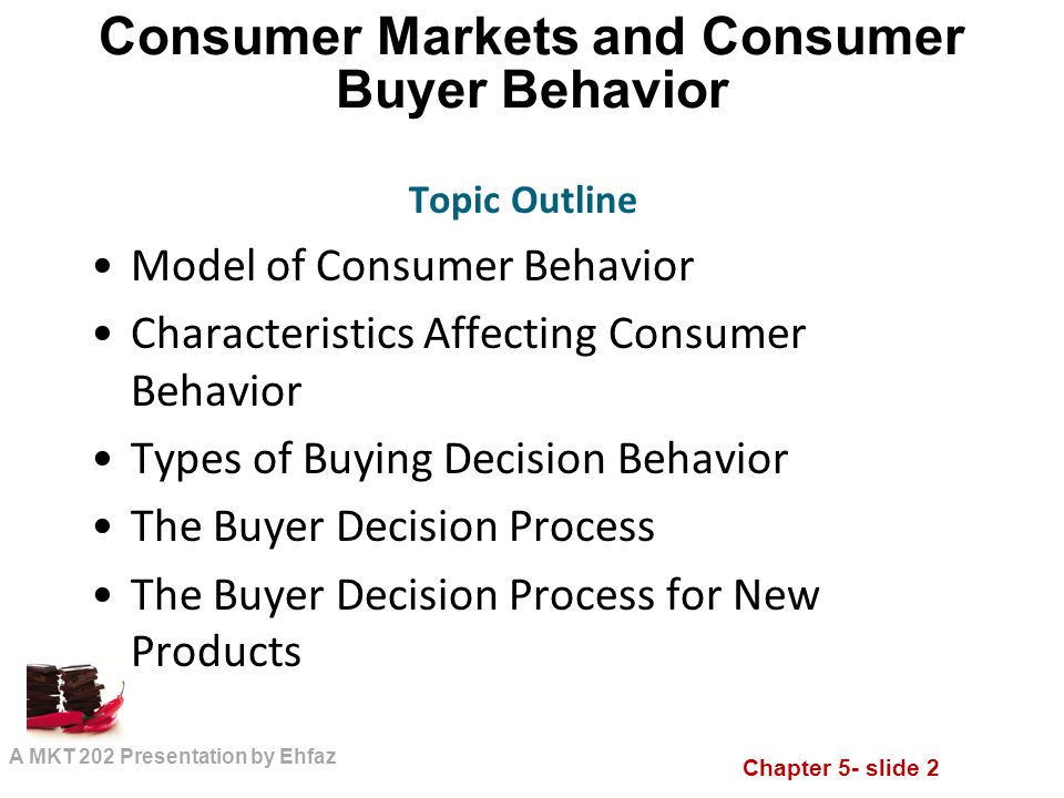 study of consumer behaviour for new