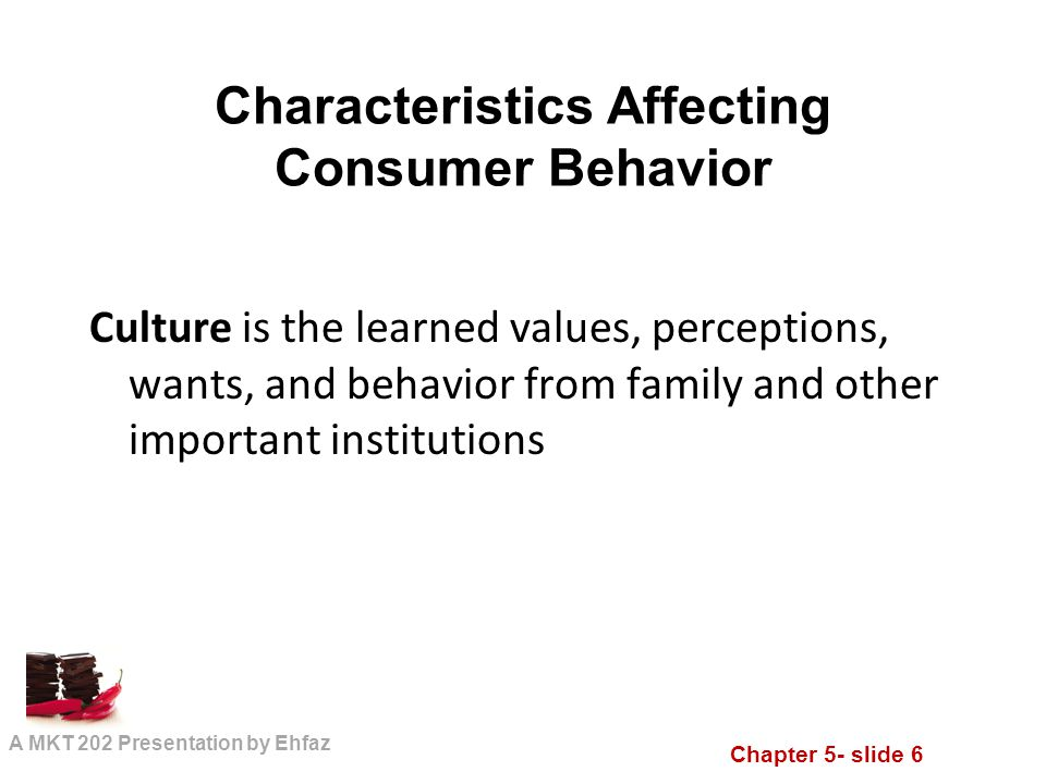 characteristics that affect consumer behavior and Consumer's buying behaviour has been comprehensively researched by marketers in order to understand how, what and why customers buy products and on what are the basis of their decisions the fundamental basic approach into analysing consumer buyer behaviour is considered the stimulus – response .