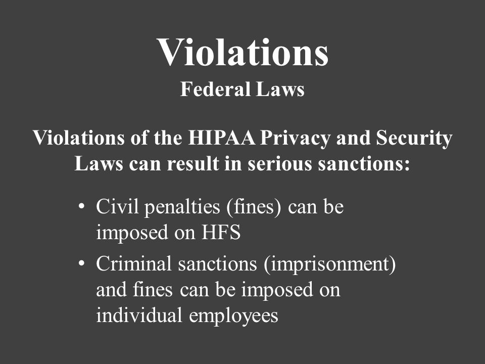 Hippa privacy and violations