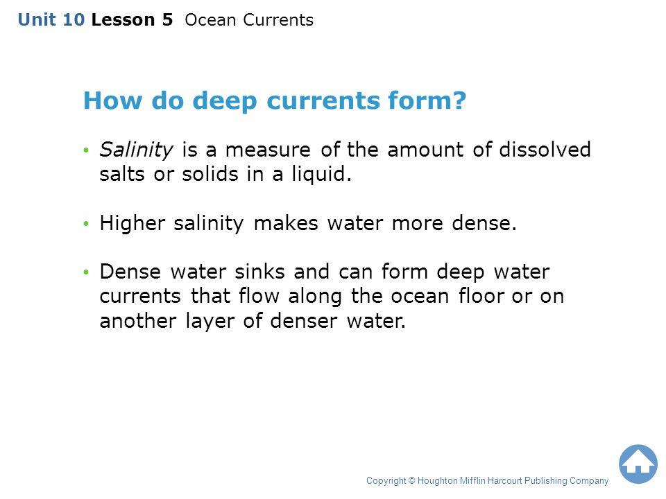 Unit 10 Lesson 5 Ocean Currents - ppt video online download