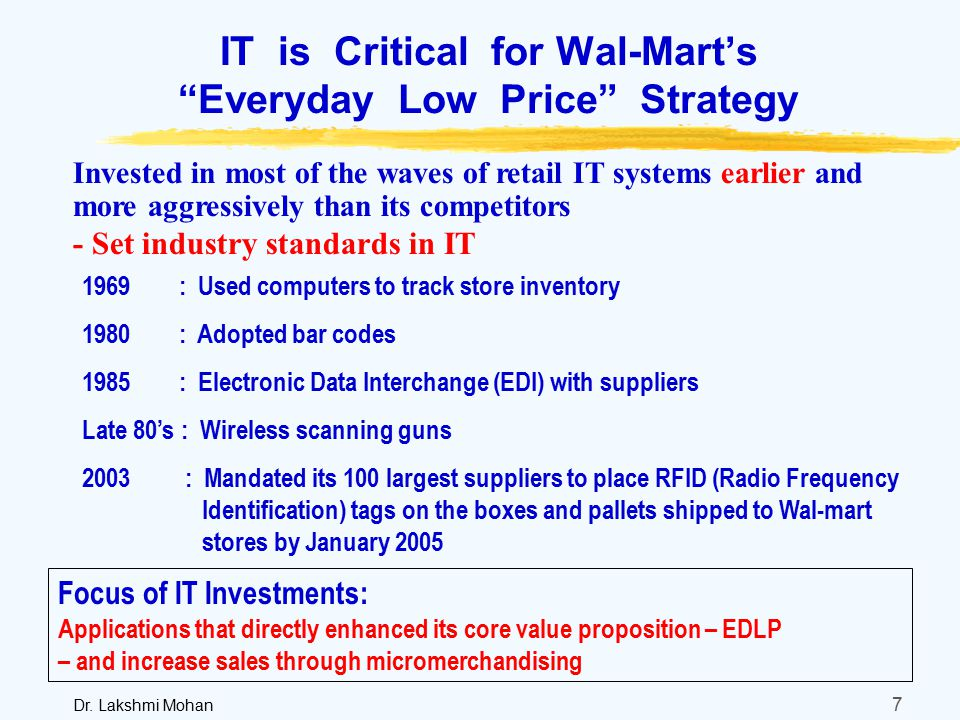 """advantages of walmart s low prices everyday strategy Researchers in business strategy (bergdahl 2004, grant 2003) have  wal-mart  is a driver and organizer of global processes, and it garners benefits from the   wal-mart is the emblematic case for how giant corporations impact the global   wal-mart's """"everyday low prices"""" slogan shapes all its business."""