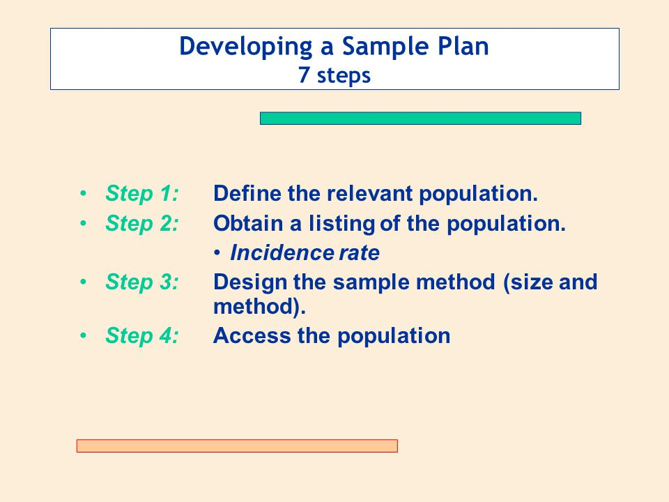 Determining the Sample Plan - ppt video online download
