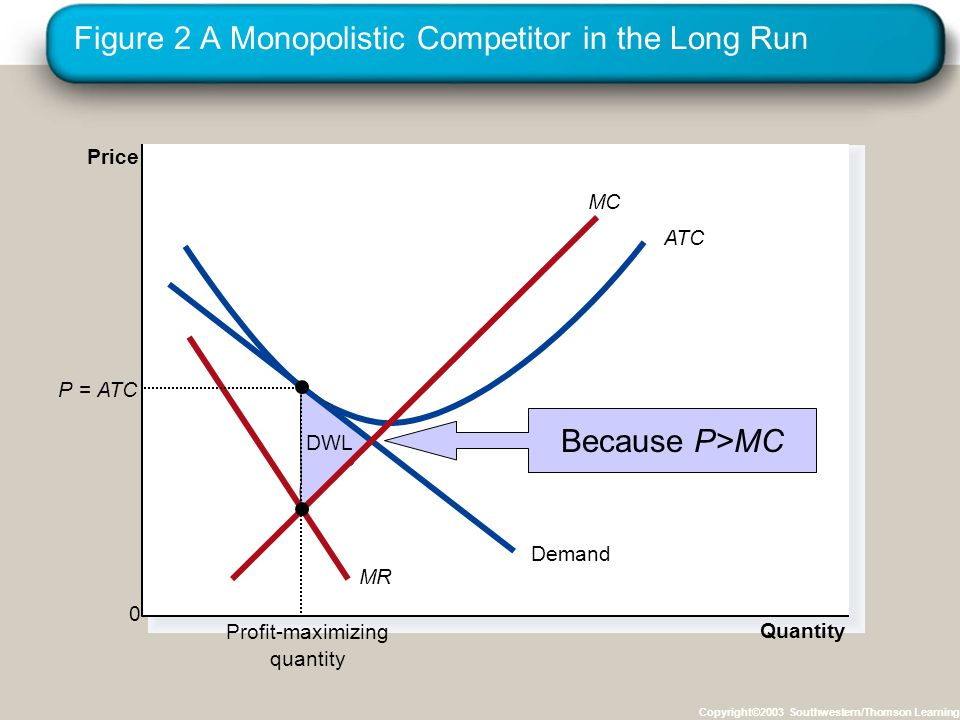 Figure 2 A Monopolistic Competitor in the Long Run
