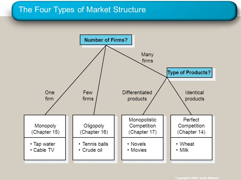 The Four Types of Market Structure