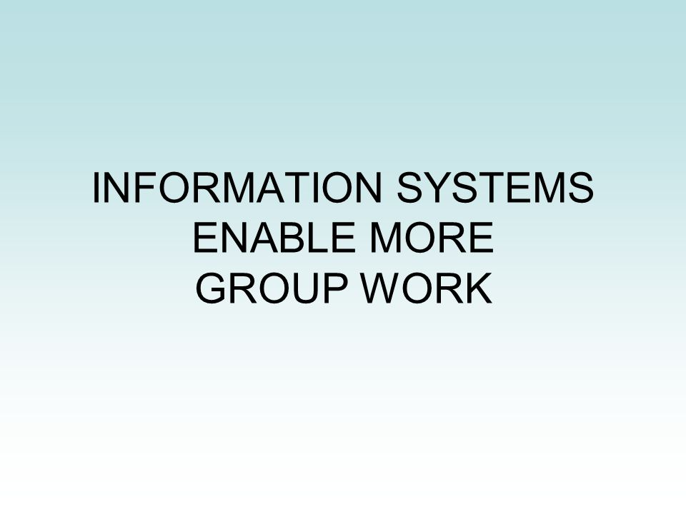 Information system group
