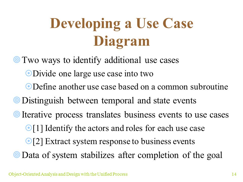 Developing a Use Case Diagram