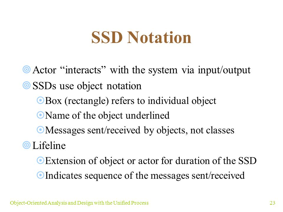 SSD Notation Actor interacts with the system via input/output
